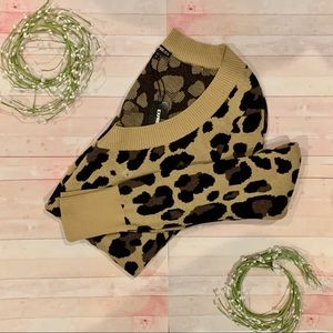 NEW Leopard Print Express Pullover Sweater